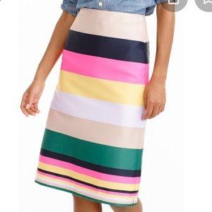 NWT J. Crew Pop Stripe Skirt Sz 4 $98